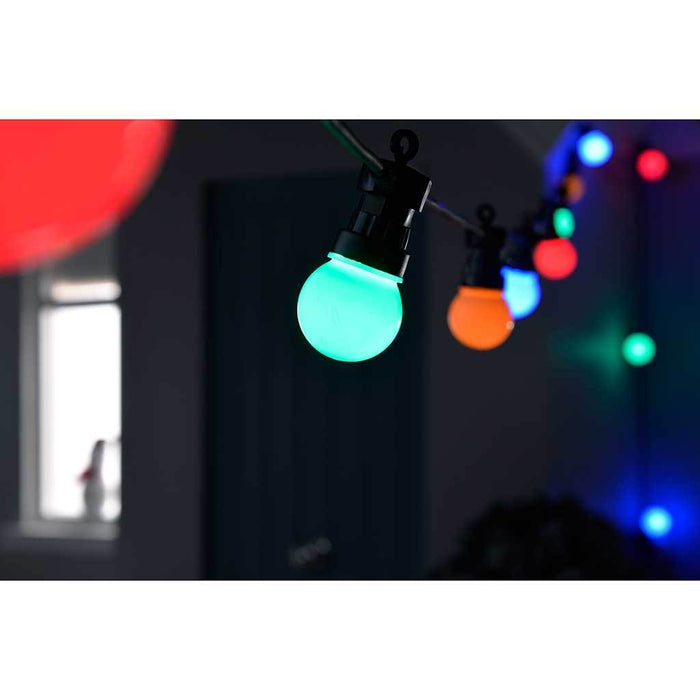 40 cm Spacing Multi-Colour Changing Globe Festoon Big Bulb Christmas/ Party/ Barbeque LED Light String, Set of 10