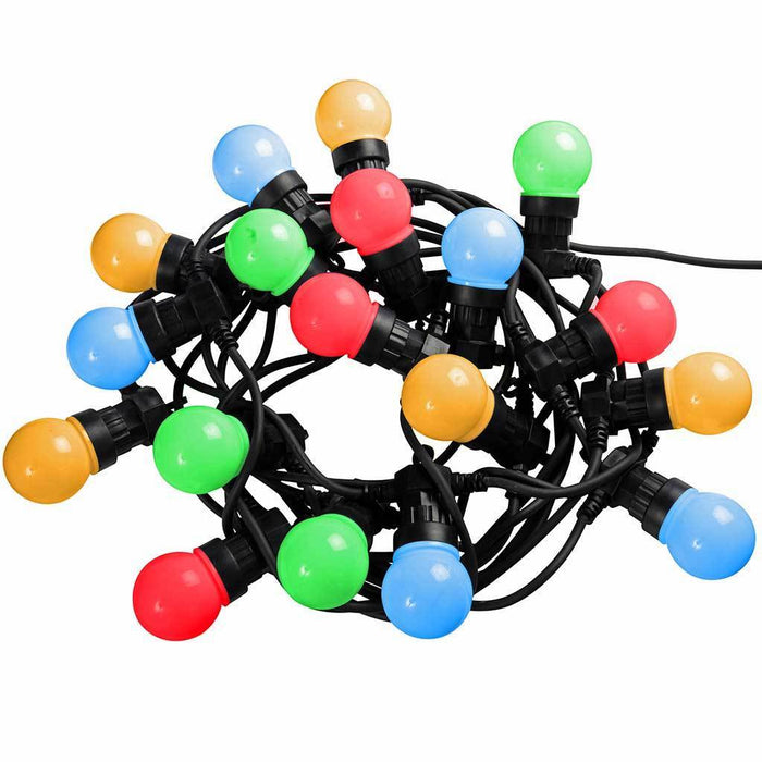 Multi-Colour Globe Festoon Big Bulb Christmas/ Party/ Barbeque LED Light String with 10 m Cable, Set of 20