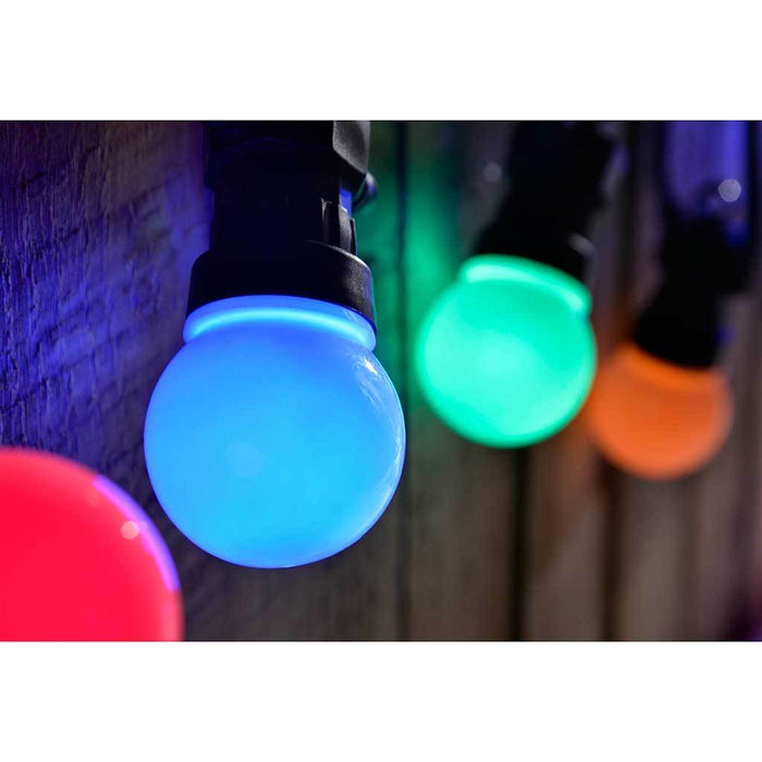Multi-Colour Globe Festoon Big Bulb LED Light String with 10 m Cable, Set of 20