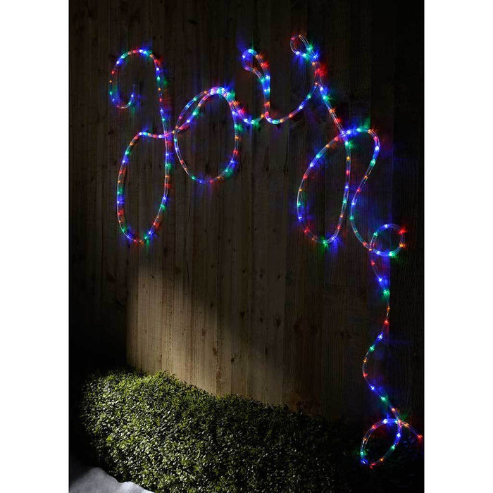 10 m Multi-Colour LED Indoor Outdoor Rope Lights with StaticMulti-Functional Flashing Controller