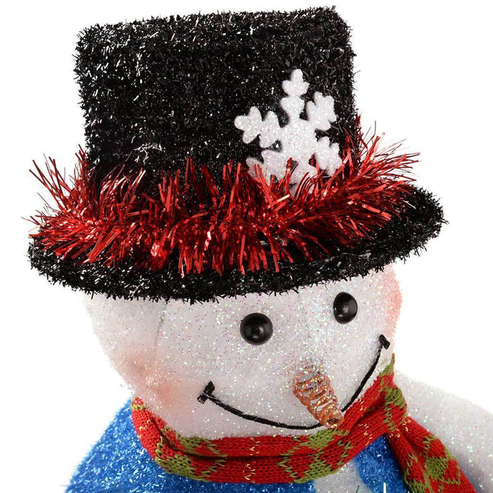 40 cm Large Pre-Lit Snowman Christmas Decoration with LED Lights