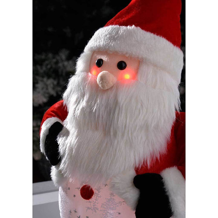 Pre-Lit Light Up and Music Santa with Snowfall Effect LED Lights Christmas Decoration, 45 cm | WeRChristmas