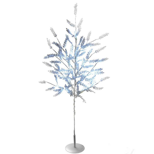 2 ft Beaded Tree with 15-LED Lights Christmas Decoration, Bright White