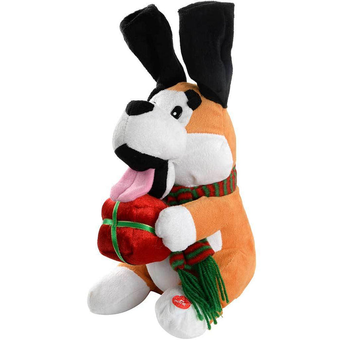 35 cm Singing Dog with Flapping Ears and Tapping Feet Christmas Decoration