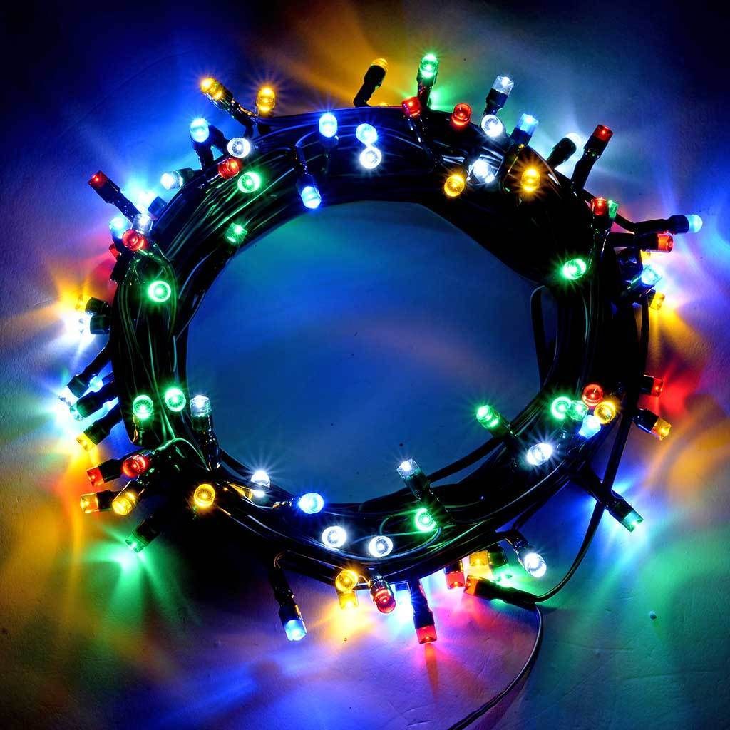 100-Piece Solar Power Multi-Colour LED Lights String Christmas Decoration