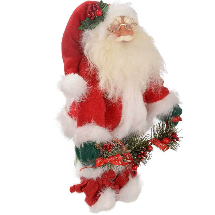 30 cm Standing Santa Christmas Decoration, Red/ White