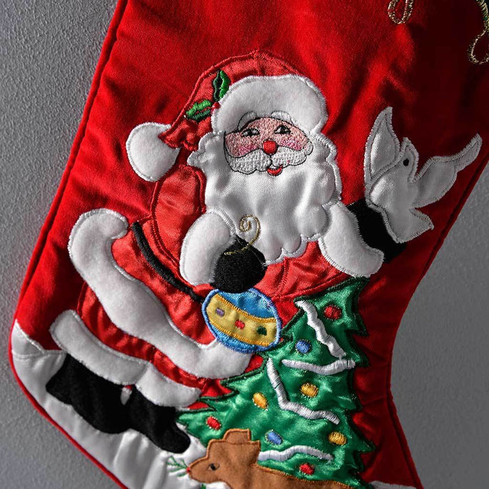 42 cm with Santa Scene Christmas Decoration, Gold