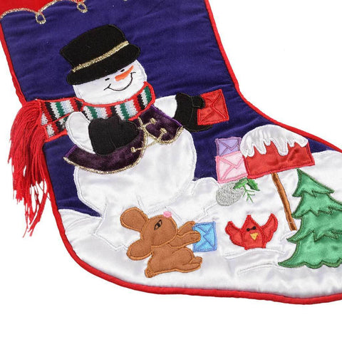 Snowman Stocking Christmas Decoration, 48 cm