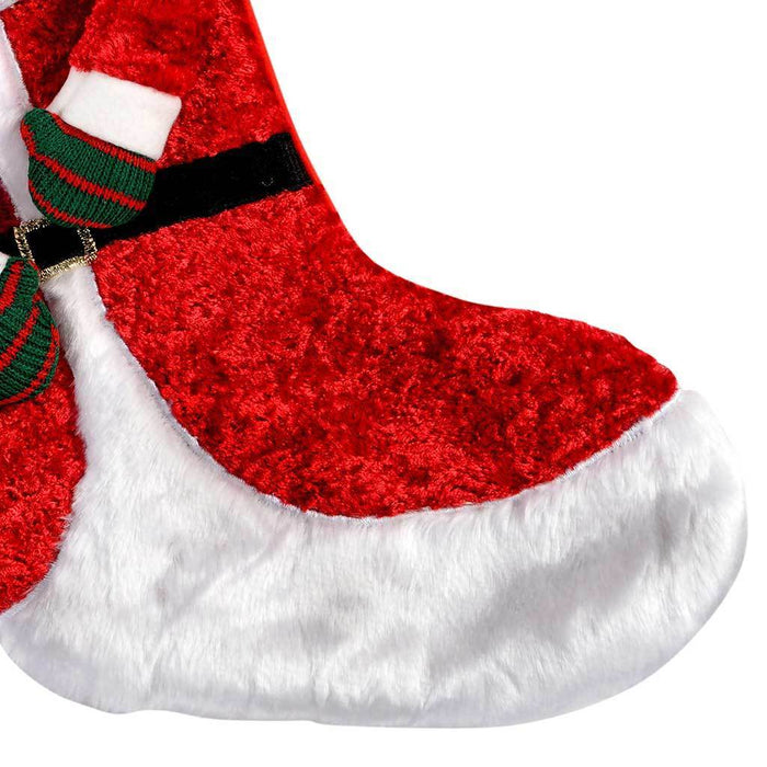 55 cm 3D Santa with hat Christmas Stocking