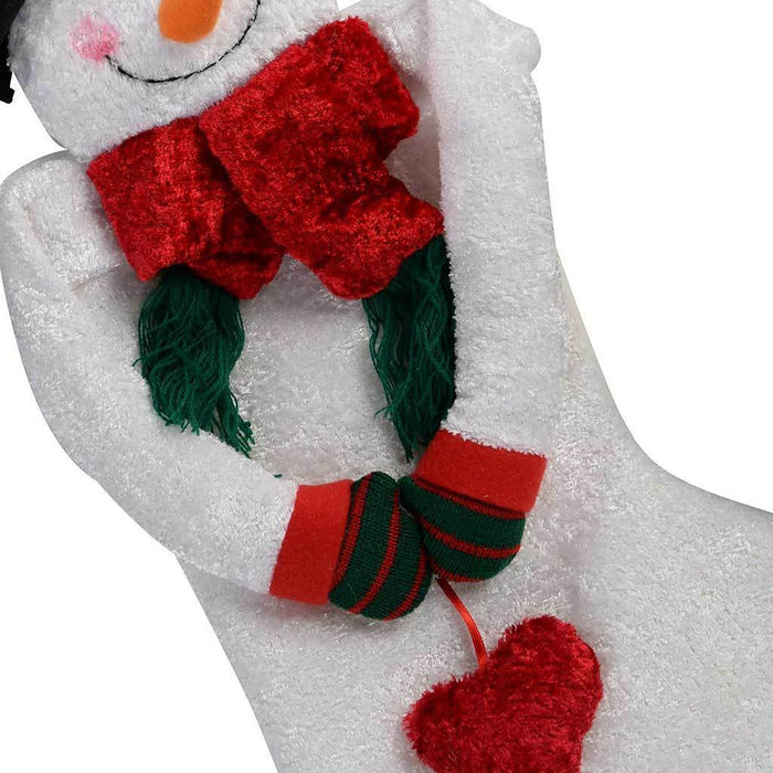 55 cm 3D Snowman with Scarf Christmas Stocking