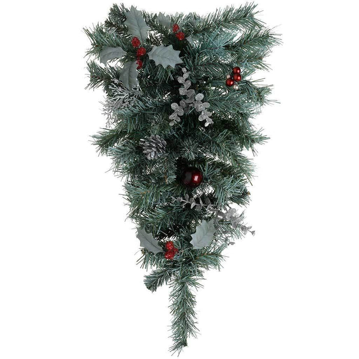 60 cm Frosted Cones and Berries Tear Drop Garland Christmas Decoration