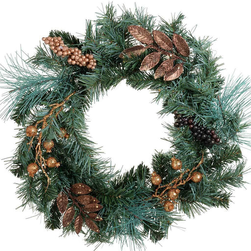 45 cm Decorated Wreath Christmas Decoration