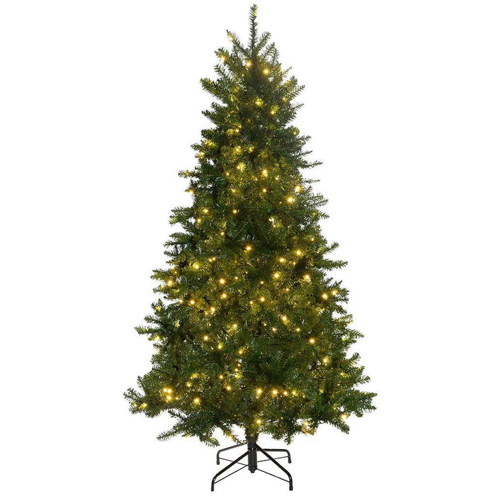 Timberland Spruce Christmas Tree with 400 Warm White LED Lights, 6 ft/1.8 m