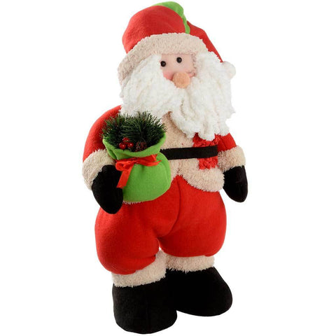 43 cm Standing Santa with Gift Bag Christmas Decoration