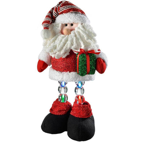 42 cm Pre-Lit Novelty Santa with LED Light Up Legs Christmas Decoration