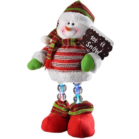 45 cm Pre-Lit Novelty Snowman with LED Light Up Legs Christmas Decoration