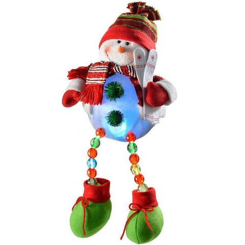 48 cm Pre-Lit Novelty Sitting Snowman with LED Light Up Body and Legs
