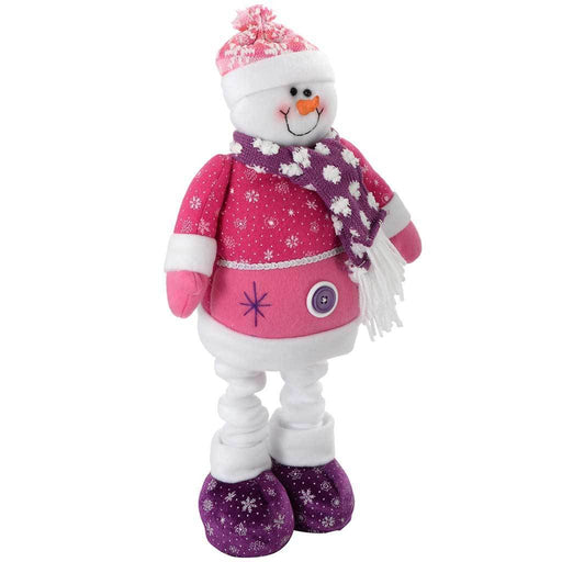 60 cm Snowman Christmas Decoration, Hot Pink/ Purple