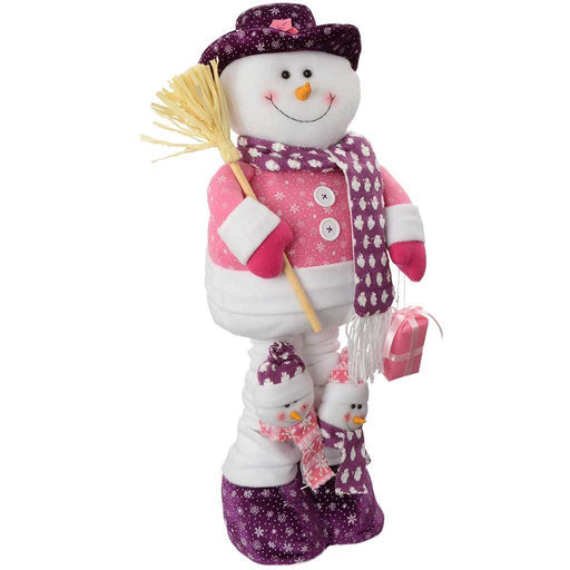99 cm Snowman Christmas Decoration, Hot Pink/ Purple