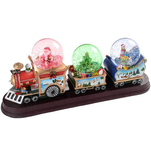34 cm Christmas Train with 3-Musical Animated Snow Globe Decoration