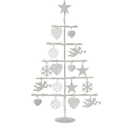 Fibre Christmas Tree with 21-LED Lights Decoration, Warm White 2 ft/ 60 cm