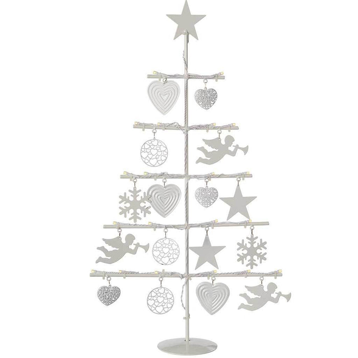 Fibre Christmas Tree with 21-LED Lights Decoration, Warm White 2 ft/ 60 cm | WeRChristmas