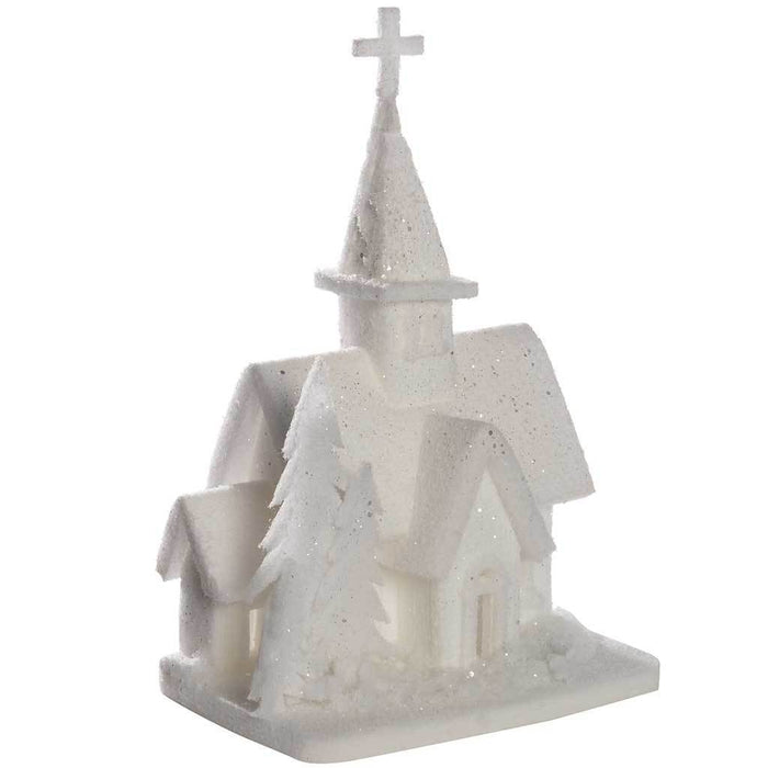 45 cm Polly Cotton House Christmas Decoration, White