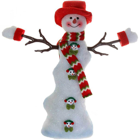 60 cm Large Colour Changing Snowman Christmas Decoration with Hat/Scarf and Gloves, Red