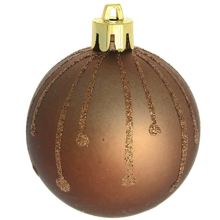 Shatterproof Deluxe Christmas Tree Baubles, 15-Piece - Brown/Chocolate/Champagne | WeRChristmas