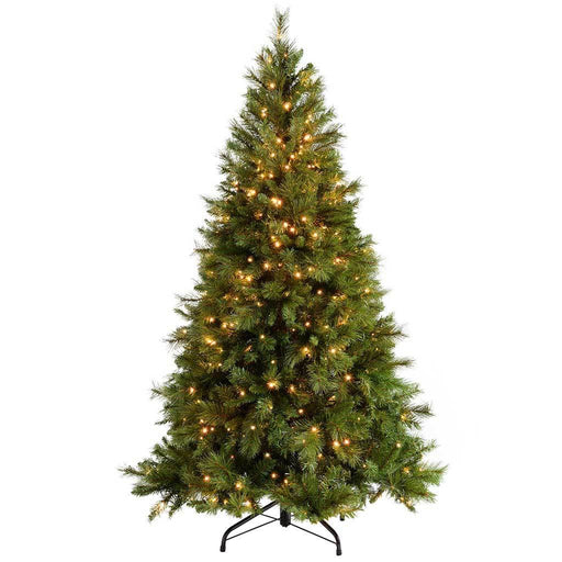 WeRChristmas Pre-Lit  Victorian Pine Multi-Function Christmas Tree, 400 Warm White LED Lights, 6 ft/1.8 m
