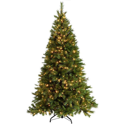 WeRChristmas Pre-Lit  Victorian Pine Multi-Function Christmas Tree, 500 Warm White LED Lights, 7 ft/2.1 m