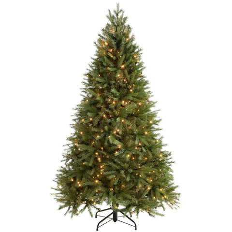 Pre-Lit Regal Spruce Multi-Function Christmas Tree PE / PVC Tips