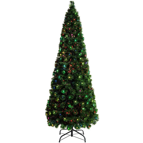 WeRChristmas Pre-Lit Christmas Tree with 290 Fibre Optic Lights 7 ft/2.1 m - Multi-Colour