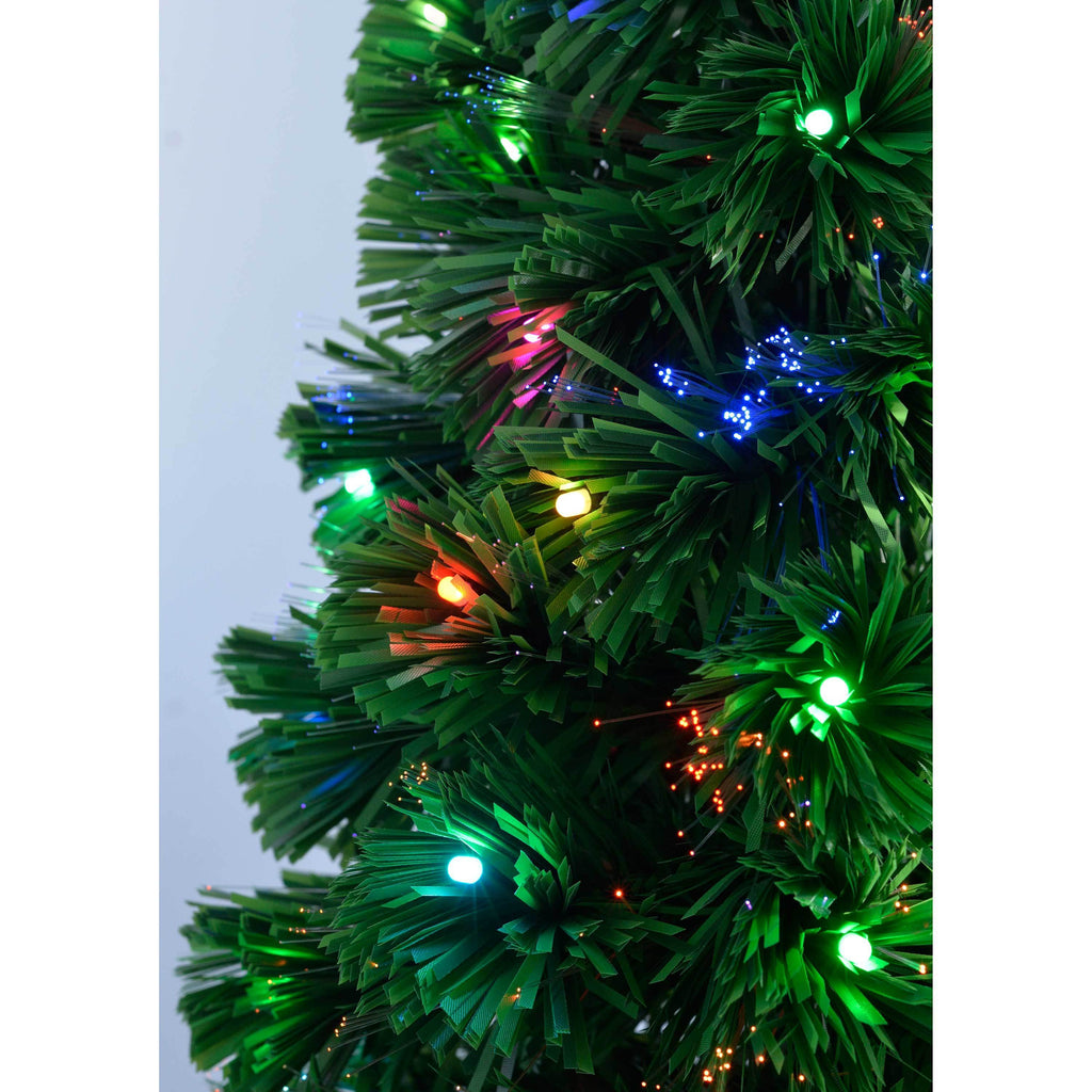 WeRChristmas Pre-Lit Christmas Tree With 290 Fibre Optic