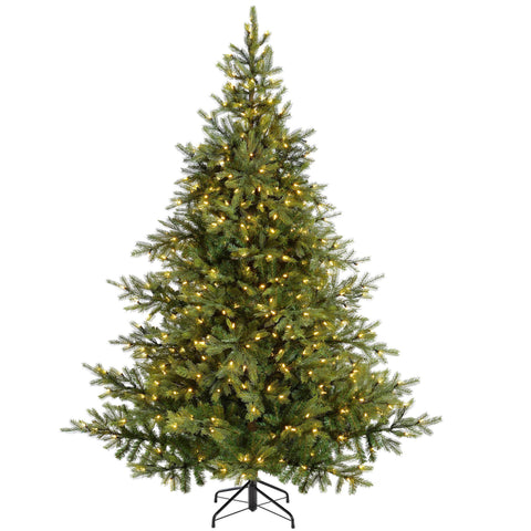 WeRChristmas Pre-Lit Empress Pine Multi-Function Christmas Tree 500 LED Warm White Lights 7 ft/2.1 m