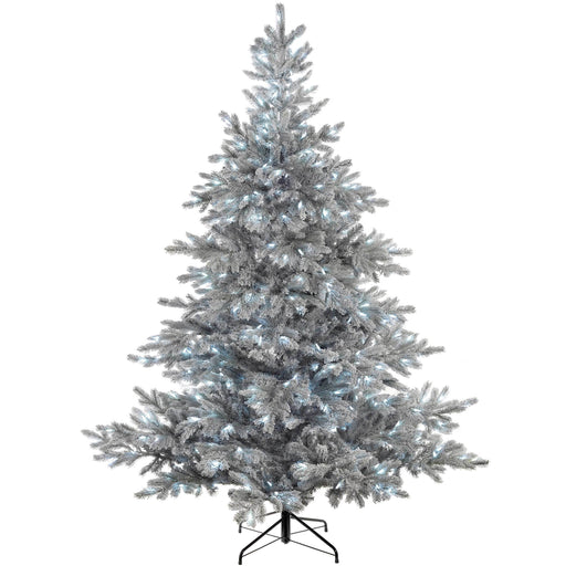 WeRChristmas Pre-Lit Frost Vermont Spruce Multi-Function Christmas Tree Cool White LED Lights