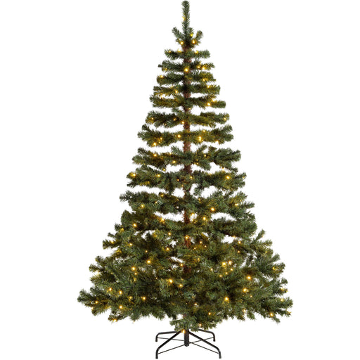 WeRChristmas Pre-Lit Virginia Pine Multi-Function Christmas Tree 300 Warm White LED Lights 7 ft/2.1 m