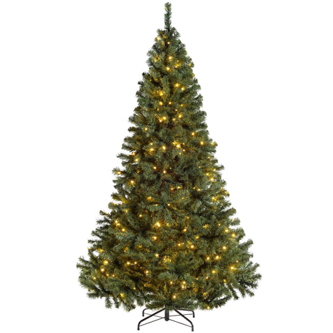 WeRChristmas Pre-Lit Vancouver Fir Multi-Function Christmas Tree 300 Warm White LED Lights 7 ft/2.1 m