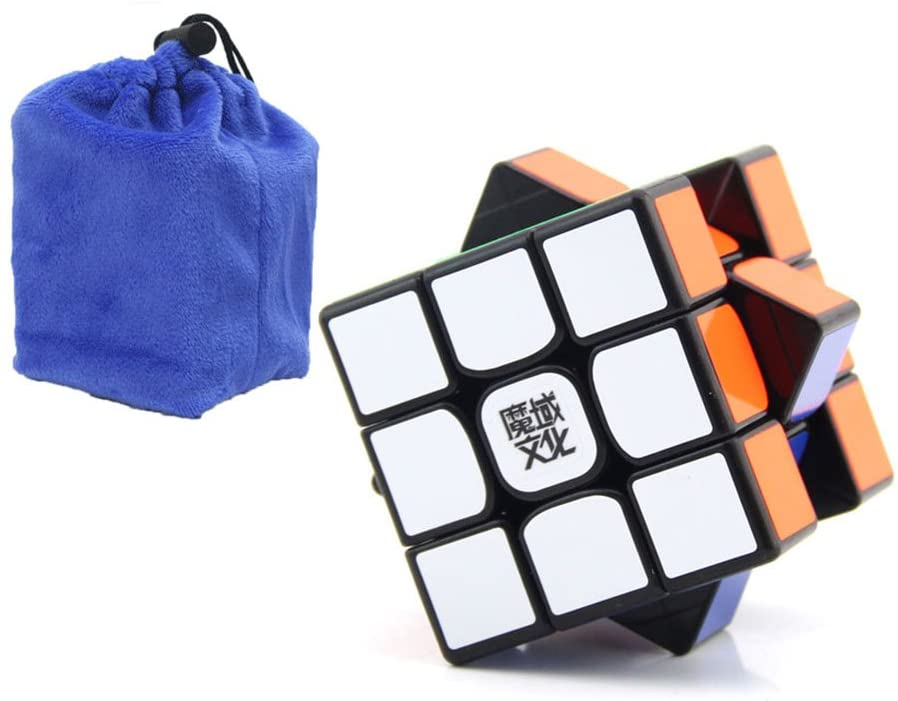 SOKOYO Magic Cube 3x3x3 MOYU WEILONG GTS2M Speed Magnet Competition Cube With Gift Bag (Black) - ALBACUBE