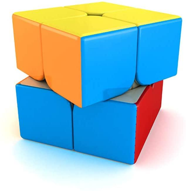 SOKOYO Moyu Mofang Classroom cube puzzle Meilong 2x2 Stickerless speed cube 2x2x2 Magic cube (2x2x2, Stickerless) - ALBACUBE