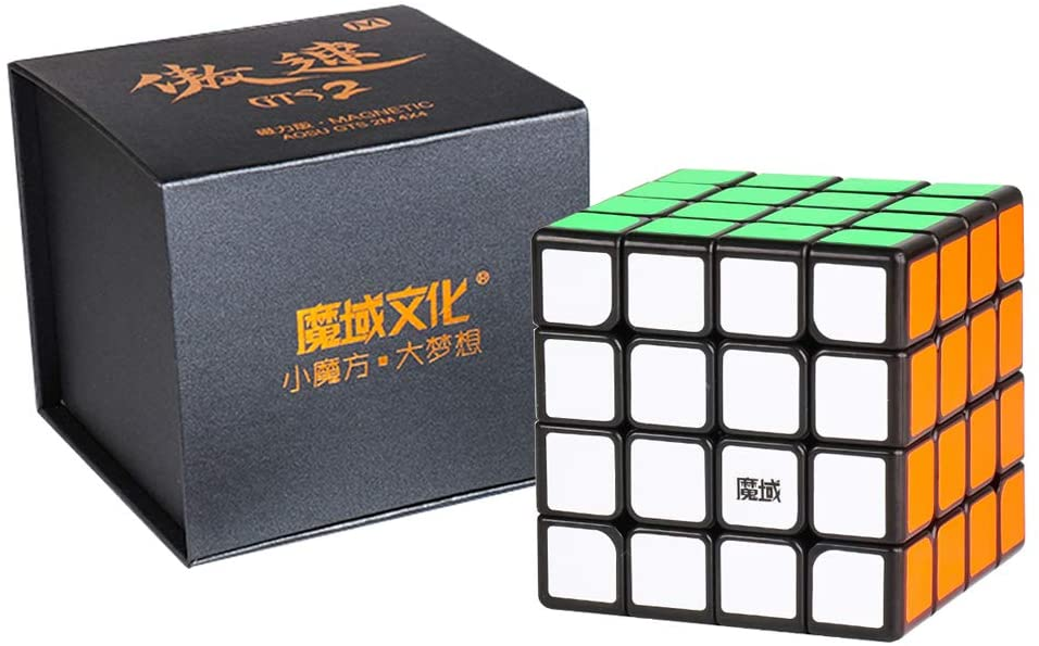 SOKOYO New MoYu Aosu GTS2M & GTS2 4x4x4 Cube and V2 4x4 Magnetic Cube Puzzle Professional Speed Cube (Aosu GTS 2M, Stickerless) - ALBACUBE