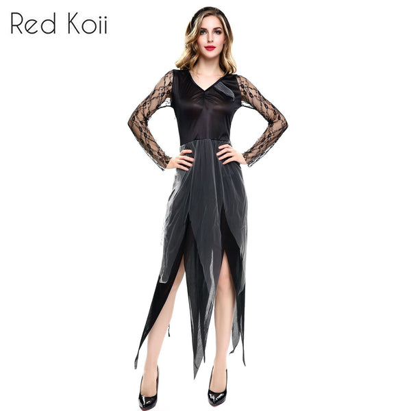 9c6d041a6552 Masquerade Costume Party Dark Vampire Bride Cosplay Suit – Red Koii