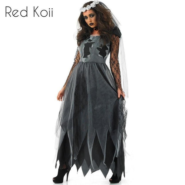 f93b5b41db2e Masquerade Costume Party Vampire Bride Cosplay Suit – Red Koii