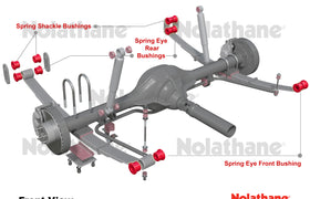 Nolathane - Volkswagen Amarok 2009 - ONWARDS - Rear Spring Kit