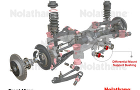 Nolathane - Mitsubishi Lancer CJ Ralliart AWD - Rear Diff Front Mount Bushing