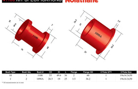 Nolathane - Toyota Camry Avalon - Front Steering Rack and Pinion Mount Bushing