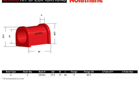 Nolathane - Ford Falcon Fairlane BA BF FG FGX - Rear Sway Bar Mount Bushing