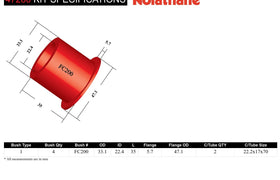 Nolathane - Ford Courier PC PD PE PF PG PH - Rear Spring Front Eye Bushing