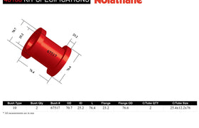 Nolathane - BMW 1 2 3 4 M Series M3 X1 Z4 - Front Radius Arm Lower Bushing