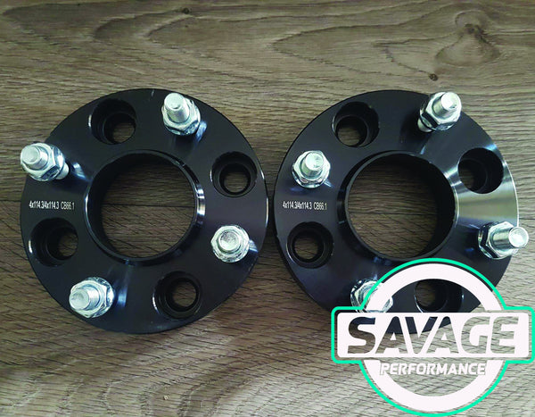 4x114 25mm Wheel Spacers NISSAN